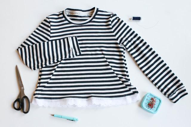 Quick-DIY • Shirt mit Spitze verzieren