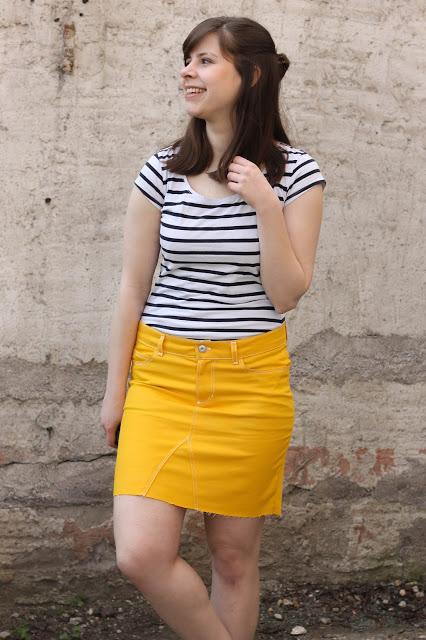 Sommer, Sonne, Gelb • Ginger Jeans Rock