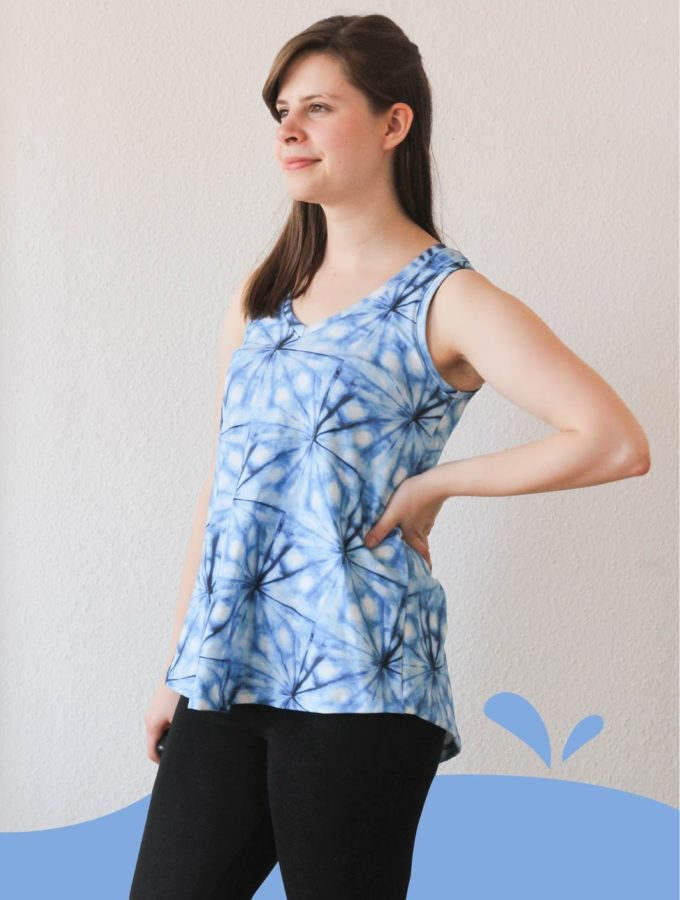 Pony Tank • Shibori Top