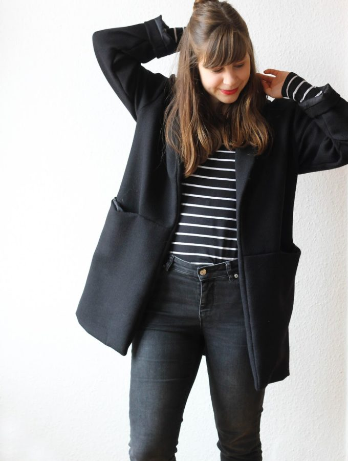 Coatigan Silvia • Wolltweed im Oversize-Look