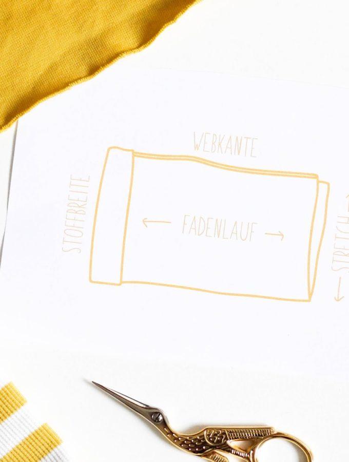 Mini-Merkblatt zum Fadenlauf • Free Printable