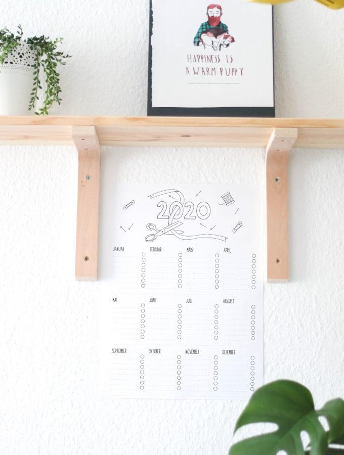 Neues Jahr, neue Pläne und ein Nähkalenderfreebie