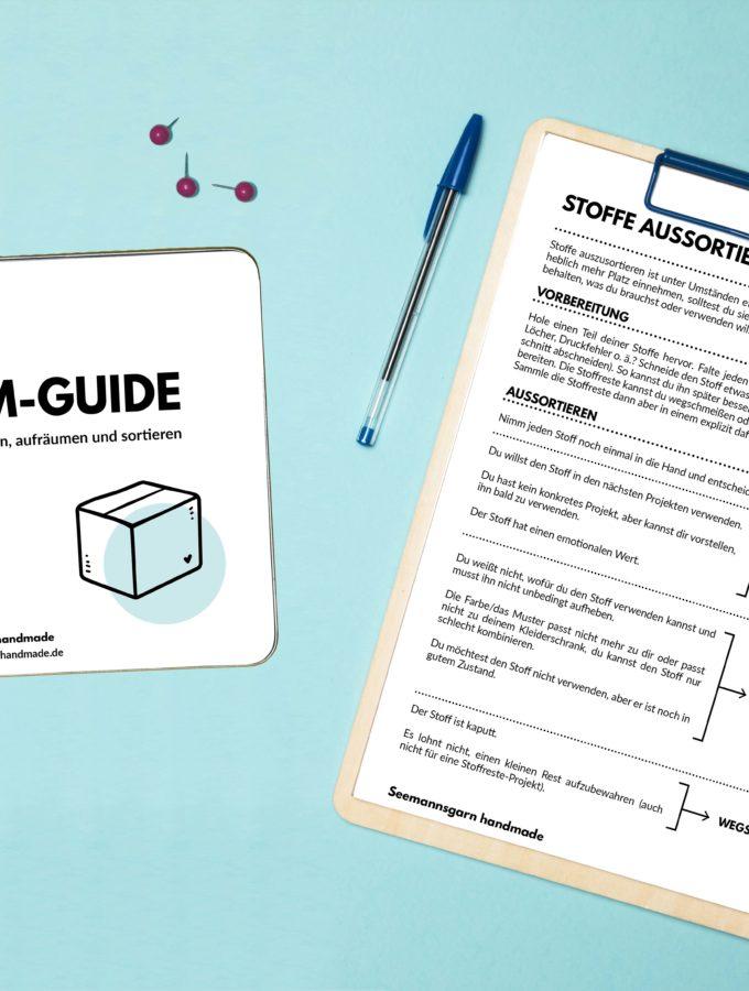 Der kleine Aufräum-Guide • Effektiv das Nähzimmer ausmisten, aufräumen und sortieren